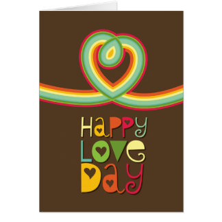 Rainbow Loop Heart Colorful Valentine's Day Card