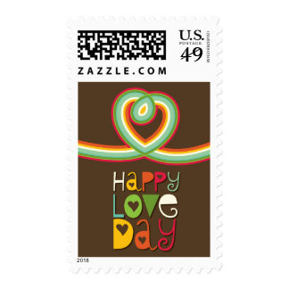 Rainbow Loop Heart Colorful Valentine's Day Stamps