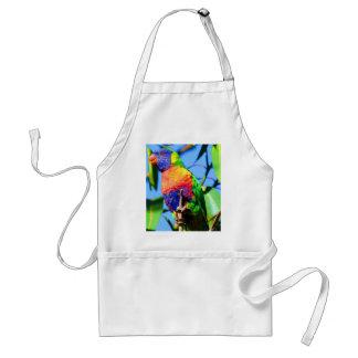 rainbow lorikeet adult apron