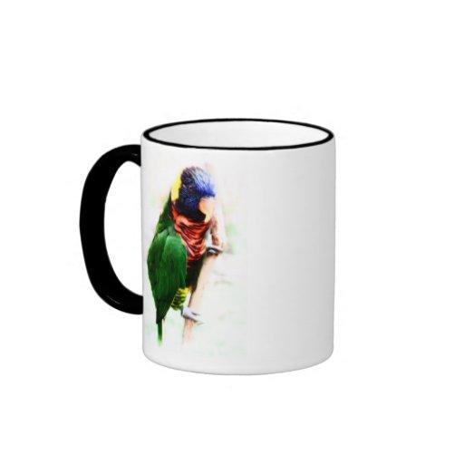 Rainbow Lorikeet Art Mug