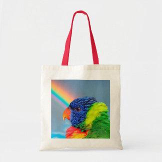 Rainbow Lorikeet Budget Tote Bag