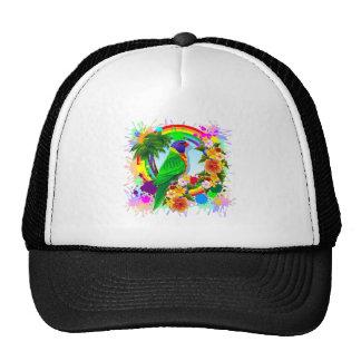Rainbow Lorikeet Parrot Art Trucker Hat