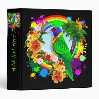 Rainbow Lorikeet Parrot Binder