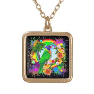 Rainbow Lorikeet Parrot Necklaces