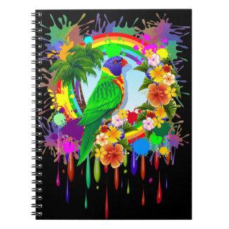 Rainbow Lorikeet Parrot Notebook