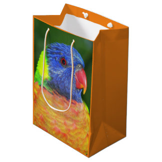 Rainbow Lorikeet Parrot Photo Medium Gift Bag