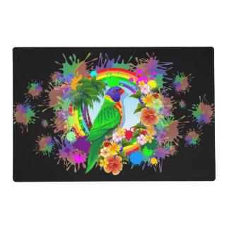 Rainbow Lorikeet Parrot Placemat Laminated Placemat