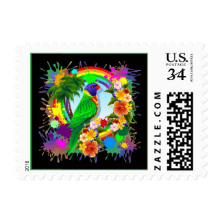 Rainbow Lorikeet Parrot Postage / Stamps