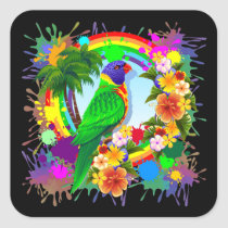 Rainbow Lorikeet Parrot Stickers