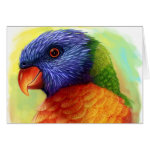 Rainbow Lorikeet Realistic Painting Greeting Card