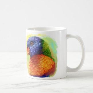 Rainbow lorikeet realistic painting coffee mug