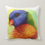 Rainbow Lorikeet Realistic Painting Pillow