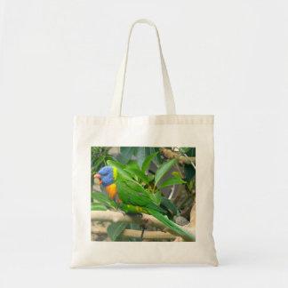 Rainbow Lorikeet tote Budget Tote Bag