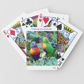 Rainbow Lorikeets Bicycle Playing Cards