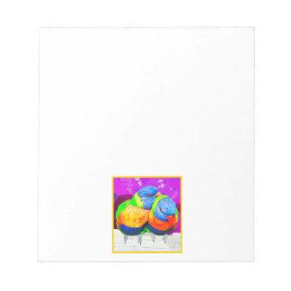 Rainbow Lorikeets Love Birds Couple Notepad
