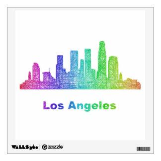 Rainbow Los Angeles skyline Wall Sticker