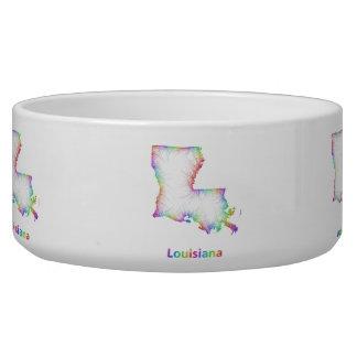 Rainbow Louisiana map Bowl
