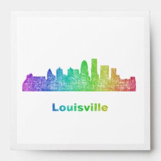 Rainbow Louisville skyline Envelope