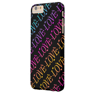 Rainbow: Love and Hearts Barely There iPhone 6 Plus Case