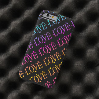 Rainbow: Love and Hearts Tough iPhone 6 Case