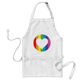 rainbow love apron