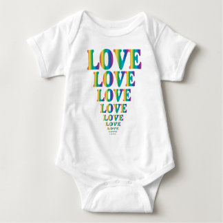 Rainbow Love Baby Bodysuit