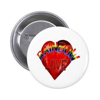 Rainbow Love Buttons