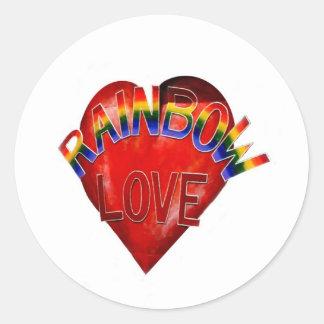 Rainbow Love Classic Round Sticker