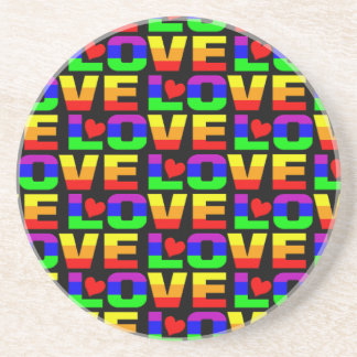 Rainbow Love coaster