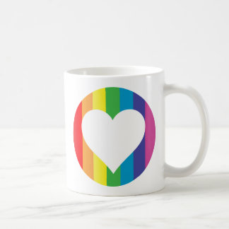 rainbow love coffee mug