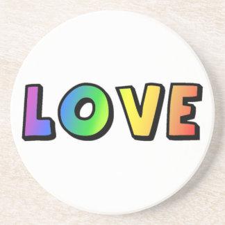 Rainbow love gay lesbian hippy coaster
