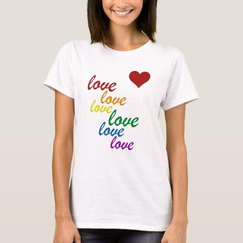 RAINBOW LOVE HEART T-Shirt