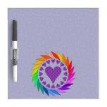 Rainbow Love Hearts Dry-Erase Boards