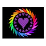 Rainbow Love Hearts Post Cards