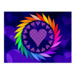 Rainbow Love Hearts Postcard