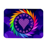 Rainbow Love Hearts Rectangular Magnets