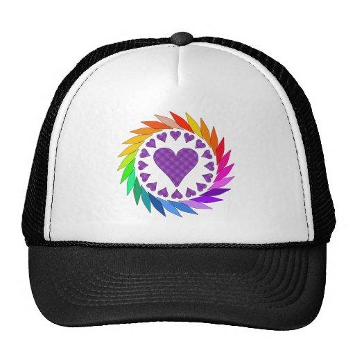 Rainbow Love Hearts Trucker Hat