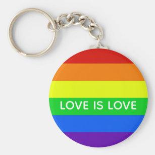 Ally Pride Love Keychain