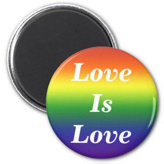 Rainbow Love Is Love Magnet