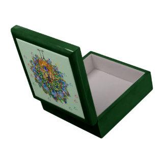 Rainbow Love Peacock Trinket Boxes