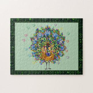 Rainbow Love Peacock Jigsaw Puzzle