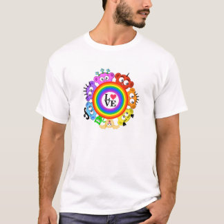 Rainbow - Love - Planet Peek-A-Boo Design T-Shirt
