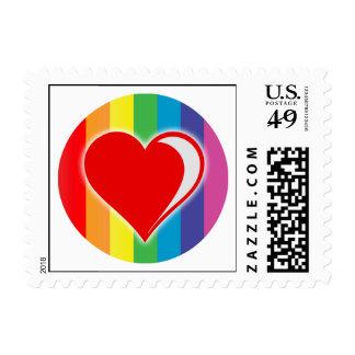 rainbow love. postage