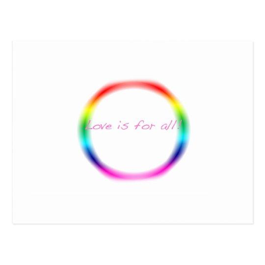 Rainbow Love Postcard