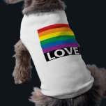 """Rainbow Love, Pride, LGBT, Celebrate Love T-Shirt<br><div class=""""desc"""">Rainbow Love Dog Shirt for your fur baby! Let Fido show off your Pride! Love Wins! It&#39;s official - ALL Love is legal in ALL 50 states! Equal Love for Everyone! Celebrate this joyous occasion with Rainbow Love and Pride.  LGBT&#39;s enjoy your new freedom to love and be married!</div>"""