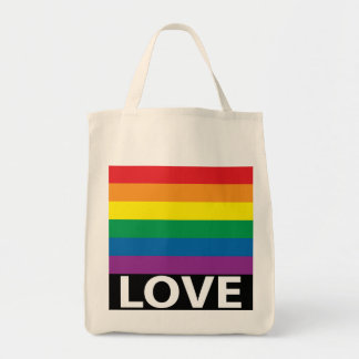 Rainbow Love, Pride, LGBT, Celebrate Love Tote Bag