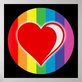 rainbow love. print