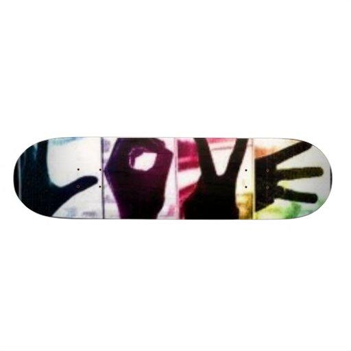 Rainbow Love Custom Skateboard
