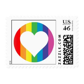 rainbow love. stamp