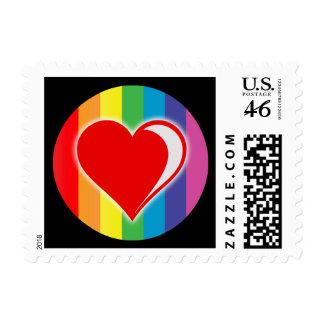rainbow love. stamps